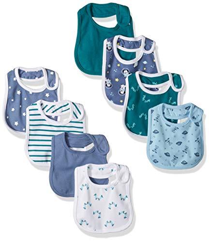 Hanes Ultimate Baby Flexy 8 Pack Bibs Sky NO SIZE