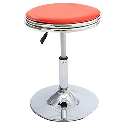ZCXBHD Liftable Leisure bar stoel barkruk 360 ° draaibare stoel voor woonkamer keuken restaurants cafés bars, oranje