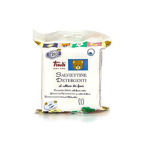 Trudi Baby 00435 - Salviette con nktar di fiori, 20 pezzi, colore: Bianco