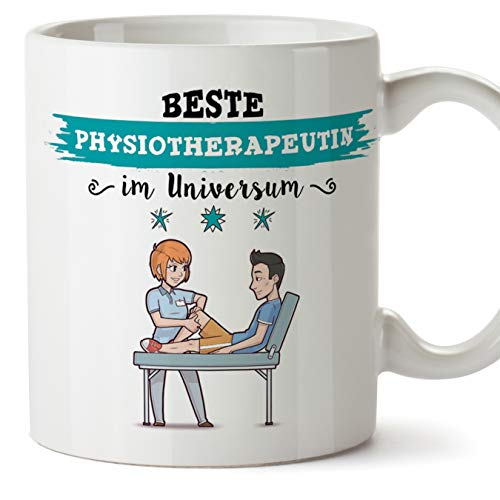 Physiotherapeutin Tasse/Becher/Mug Geschenk Schöne and lustige kaffetasse - Diese Tasse gehört der besten Physiotherapeutin im Universum - Keramik 350 ml