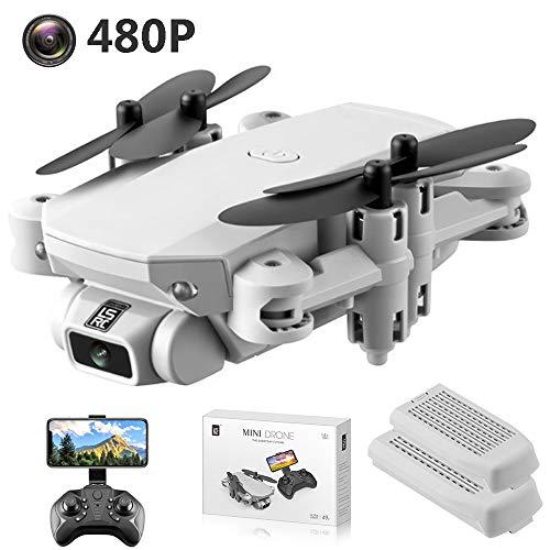 SBUNA Principianti RC Drone Pieghevole con Telecamera 480P 120° Grandangolare, 2.4G WiFi FPV Quadricottero Videocamera con Telecomando, 3 velocità, Altitude Hold, modalità Headless,Grigio