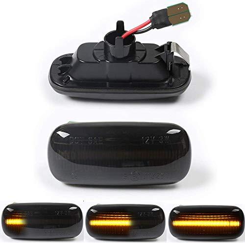 DEFVNSY Indicador lateral ámbar, marcador lateral dinámico LED Luz intermitente Luz intermitente...
