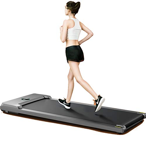 Find Bargain WZCYPJA Treadmill with Remote Control Flat Treadmills Multifunction Adjustable Speed Ru...