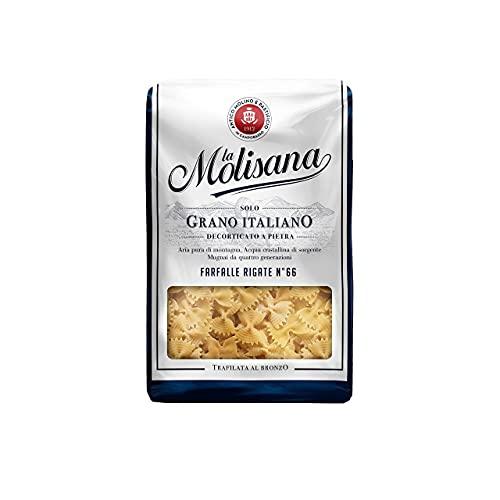 La Molisana, Farfalle Rigate n.66 Pasta Corta, SOLO Grano Italiano - 24 confezioni da 500g (tot 12kg)