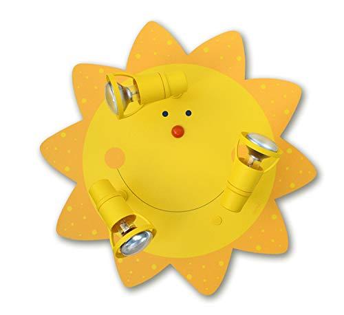 LED Deckenleuchte Sonne 3-flammig für LED Lampe max 40 Watt