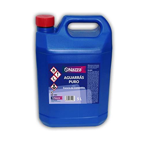 Aguarrás Puro Nazza | Esencia de Trementina | Aplicación y limpieza de pinturas sintéticas | Para aplicar pinturas al disolvente | Envase de 5 Litros