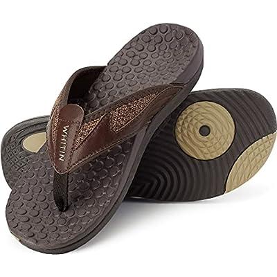 Amazon - 60% Off on  Men's Flip Flops | Outdoor Thong Sandals | Arch Support | Slip Resistant