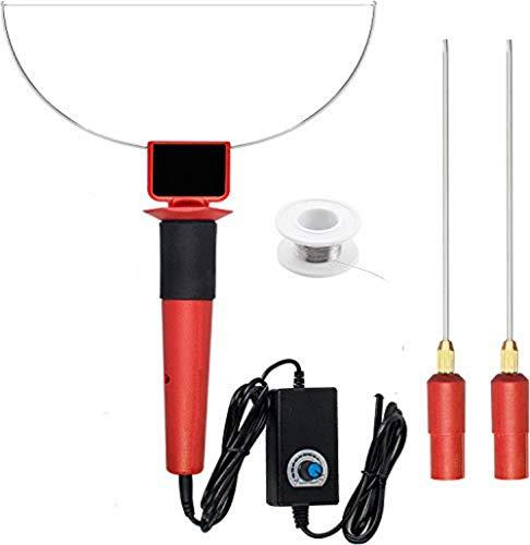 SMAUTOP Heißdrahtschneider 300-400°C mit 2 x 13,5 cm Spitze + 1 x 15 cm Spitze 24W 100-240V Schaumstoffschneider Schaum Wärmeschneidmesser