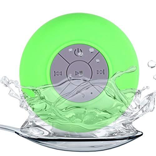 HDDFG Altavoz Bluetooth portátil Altavoces de Ducha inalámbricos a Prueba de Agua para teléfono PC Altavoz Manos Libres Bluetooth Altavoz de Coche (Color : Green)