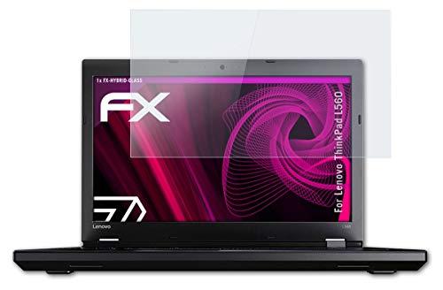 atFolix Glasfolie kompatibel mit Lenovo ThinkPad L560 Panzerfolie, 9H Hybrid-Glass FX Schutzpanzer Folie