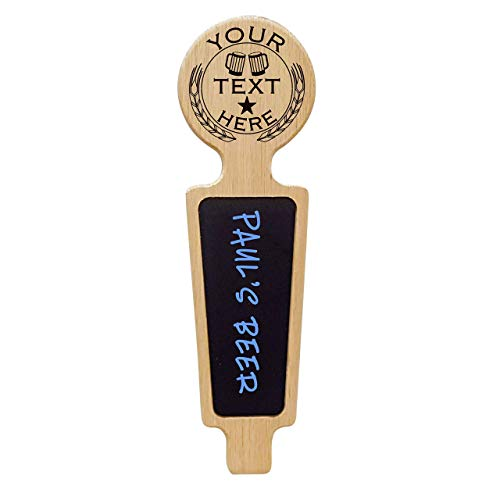 Custom Personalized Beer Tap Handle with Premium Chalkboard Dry-erase Surface. Engraved with Personalized Logo. Great for Restaurant, Brewery and Home Kegerator