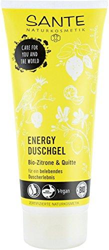 SANTE Naturkosmetik Energy Duschgel, Zitrisch-frischer Duft, Belebt Körper und Sinne, Schützt vor dem Austrocknen, Vegan, 200 ml