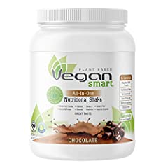 VEGANSMART PLANT BASED PROTEIN POWDER: 20g of non-GMO protein, dietary fiber, no cholesterol, and zero trans-fat vegan protein powder MEAL REPLACEMENT SHAKE: Delicious, all-in-one shake, low calorie, prebiotics, dietary fiber and omega 4 WHOLE FOOD C...