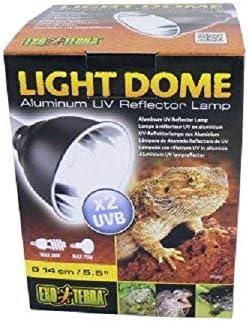 Exoterra Support d'Éclairage Light Dôme pour Reptiles et Amphibiens 75 W