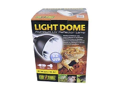 Exo Terra UV-Reflektorlampe aus Aluminium Light Dome bis 75W mit einem Durchmesser von 14 cm