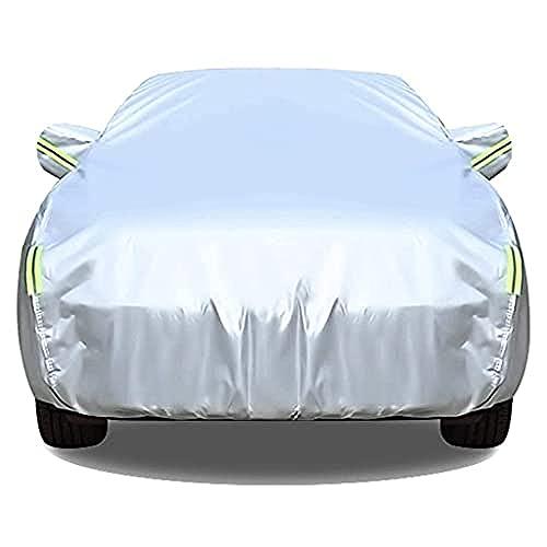 Funda para coche Cubierta completa impermeable para todo tipo de clima Compatible con Range Rover Velar, Transpirable Resistente al viento Resistente a la nieve Polvo Sol UVar-Silver||upgrade cotton