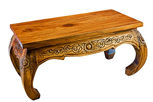 Kinaree 80x40cm Acacia massief hout salontafel/opiumtafel landhuis Koloniaal