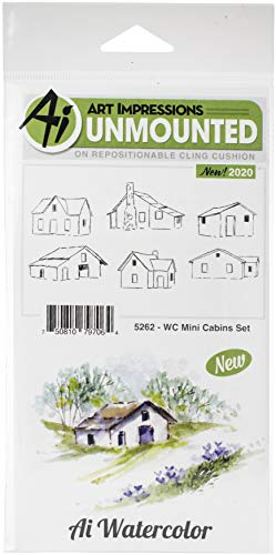 ART IMPRESSIONS Watercolor Stamp, WC Mini Cabins