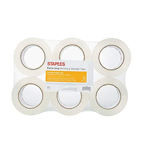 Staples 504401 Moving & Storage PKing Tape 1.88-Inch x 109 Yds Clear 6/RL (ST-A26-L6)
