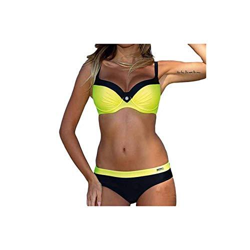 Striped Bikini Plus Size Swimwear Women Retro 2 Piece Swimsuit Sexy Monokini Push Up Bathing Suit Beach Wear Biquini S-XXL