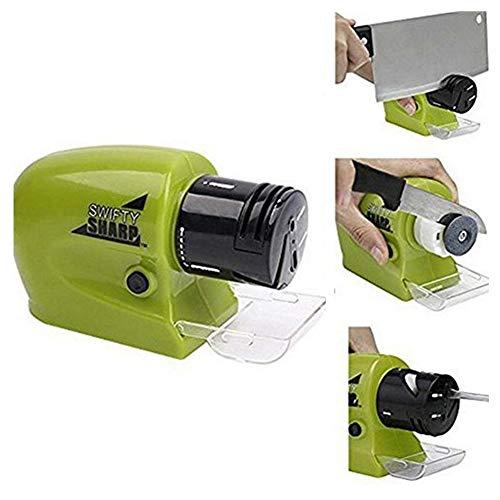 LVJUNQ Afilador eléctrico de Cocina Multifuncional con Ranura de Acoplamiento móvil, Tiene Alta dureza y Buena Resistencia al Desgaste, Adecuado para familias, restaurantes