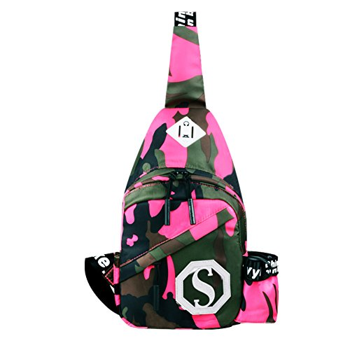 Multi-fonctionnel Sports de plein air Chest Sac Paquet / épaule Sling Bag,Rose