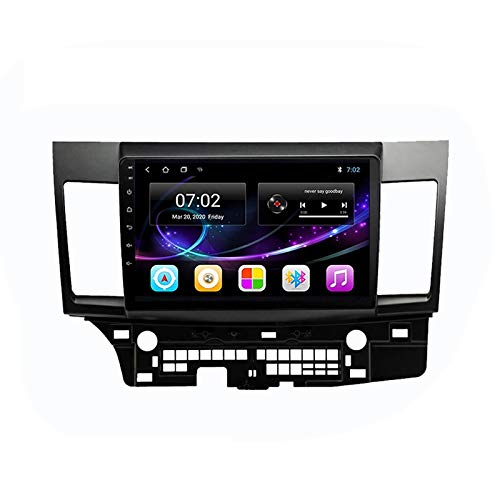 MGYQ Car Entertainment Multimedia System MP5 Player Supports Bluetooth Voice Call/GPS Navigation/AUX Input/FM/Rear View Camera/SWC, Suitable for Mitsubishi Lancer 2007-2012,Quad core,4G WiFi 1+32