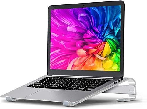 Soporte para computadora portátil para escritorio, soporte para computadora, elevador ergonómico de aluminio para computadora portátil, soporte de escritorio desmontable para computadora portátil