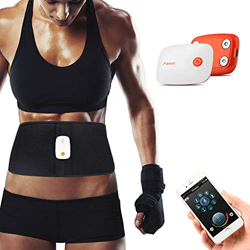 Komwell APP Control Rechargeable Waist Trimmer ABS Fitness Belt Electronic Abdominal Muscle Trainer Stomach Workout Toning Massager