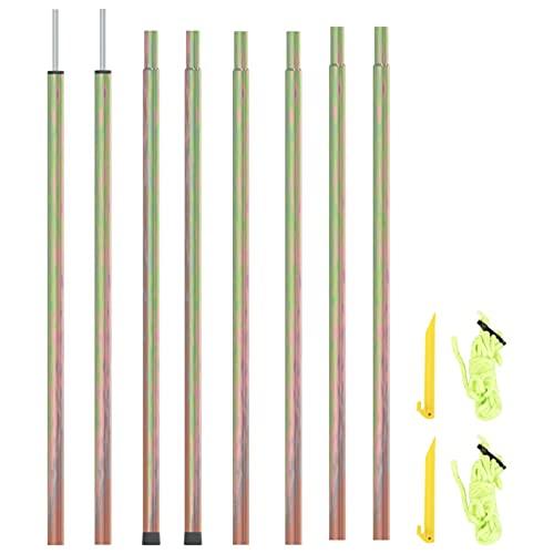 Tidyard 2X Zeltstangen, Sonnensegel Stangen, Aufstellstange für Tarp Vorzelte, Sonnensegel, Zelte Verzinkter Stahl 200 cm