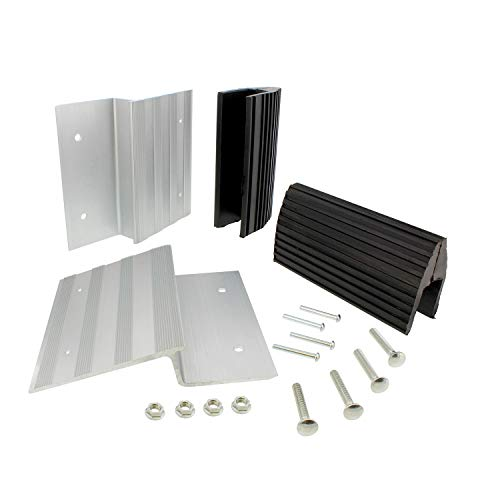 BISupply Aluminum Ramp Kit – 8in Truck Ramp Brackets and Rubber Feet, Tailgate Ramp Kit Ramp Plate Kit