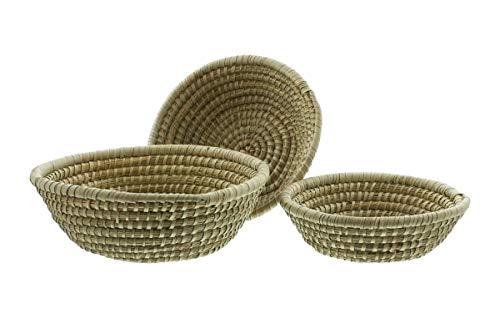 3er Set Schalen aus Seegras