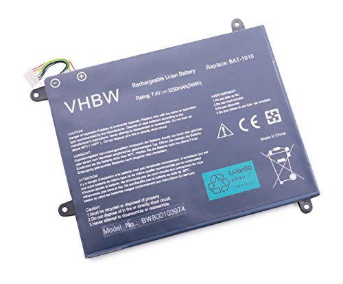 vhbw Batterie Li-Polymer 3250mAh (7,4 V) pour Acer Iconia A500, Iconia A500-10S32, Iconia Tablet A500. Remplace 934TA001F, BAT-1010, BAT1010.