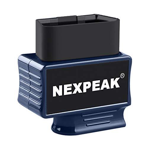 NEXPEAK NEXZSCAN OBD2 Bluetooth 4.2 Adapter, OBD2 Diagnosegerät Scanner für iPhone IOS und Android für Europäische OBD II/EOBD Protokolle nach 2003
