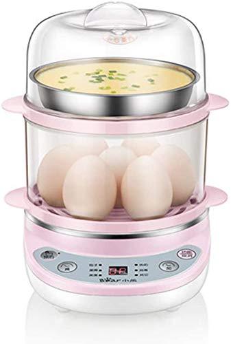 ZYLBDNB Hervidor de Huevos, hervidor de Huevos de 360 W, hervidor de Huevos eléctrico con Cuenco de Vapor y Taza medidora, Capacidad para 14 Huevos, Apagado automático, A