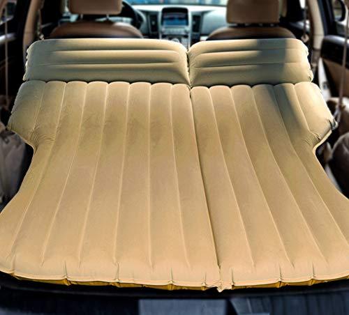 Zooma SUV Auto Reise 4/6 Split aufblasbare Matratze Beflockung Luftbett Camping Universal SUV Rücksitz Erweiterte Air Couch (Einheitsgröße, Beige)