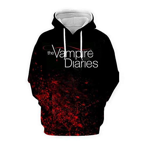 The Vampire Diaries Sudadera Transpirable Sudaderas Suave Abrigos Manga Larga Outwear Diseño Moderno Suéter Ocio Sudadera Unisex