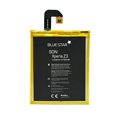 Blue Star Premium - Batería de Li-Polymer 3100 mAh para Sony Xperia Z3 (D6603, D6643, D665)