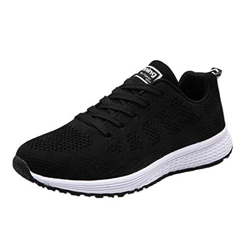 Zapatillas de Deporte para Mujer Otoño 2018 PAOLIAN Zapatos de Cordones Plano Dama Casual Deportivo Cómodo Moda Señora Senderismo Baratos Aire Libre y Deporte Calzado de Trabajo