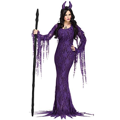 GBYAY Fiesta de Carnaval de Halloween Vestido de Disfraz de Demonio Disfraces de Miedo de Pascua Novia Horror Ropa de Rendimiento para Mujeres Adultas