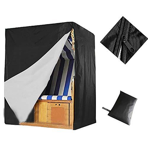 WWWANG Negro Silla Tabla Cubiertas del Patio, a Prueba de Polvo y Resistente al Agua, al Aire Libre Durable de Oxford Cubierta Muebles de jardín (Size : DAAMYFBA)