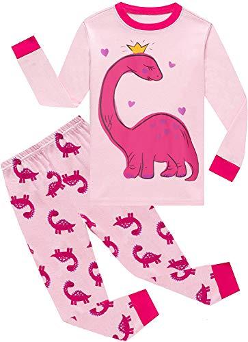 Kids & Toddler Girls Dinosaur Pajamas 2 Piece Pjs...