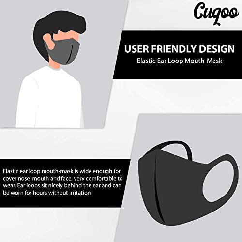 CUQOO 10x Anti Dust Mask Face Mouth Mask, Fashion Reusable Washable Outdoor Unisex Mask, Anti-Pollution Facemask