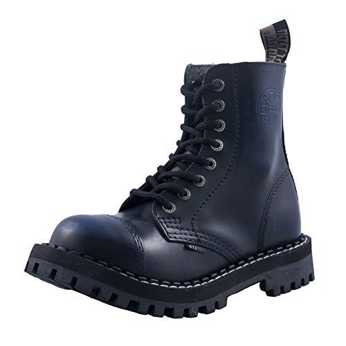Steels 8 Loch Boots Blau Rub Off, Grösse 43