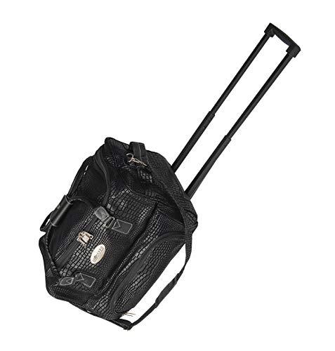 Leonardo Bag Trolleytas kunstleer reistas Safari reistas handbagage tas lederlook zwart