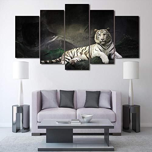 HUA JIE Foto Home Kunst Hd Gedruckt White Tiger Landscape Group Malerei Raumdekor Drucken Poster Bild Leinwand 029