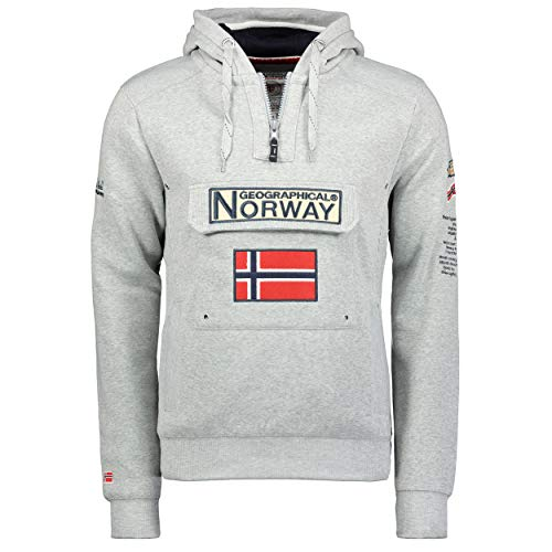 Sudadera GYMCLASS de hombre css GRIS MELANGE L Geographical Norway