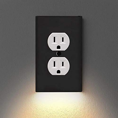 Selotrot Wall Outlet Cover with LED Night Lights, Electrical Outlet Wall Plate with LED Night Lights for Home Decor