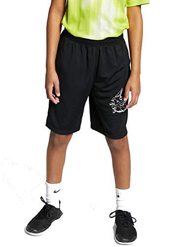 Nike Kinder GFX Shorts, Black/White, XS
