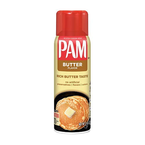 Pam Butter Flavor Cooking Spray, 5 oz 3pack
